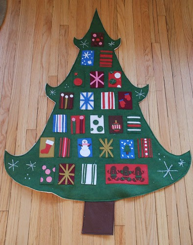 wool felt advent calendar