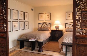 Beach Condo Renovation eclectic bedroom