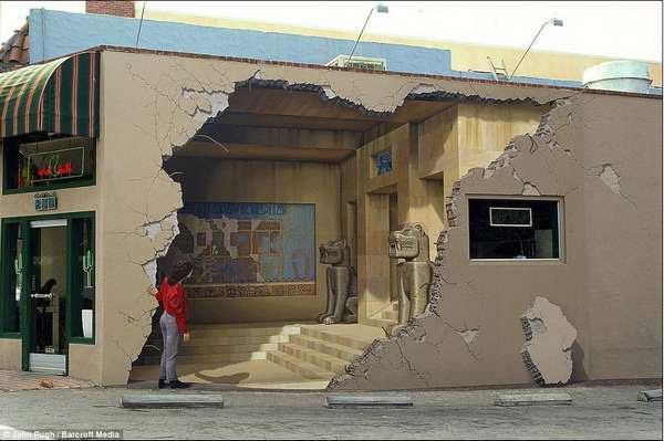 Trompe L'oeil,mural,painting,john pugh,3D art