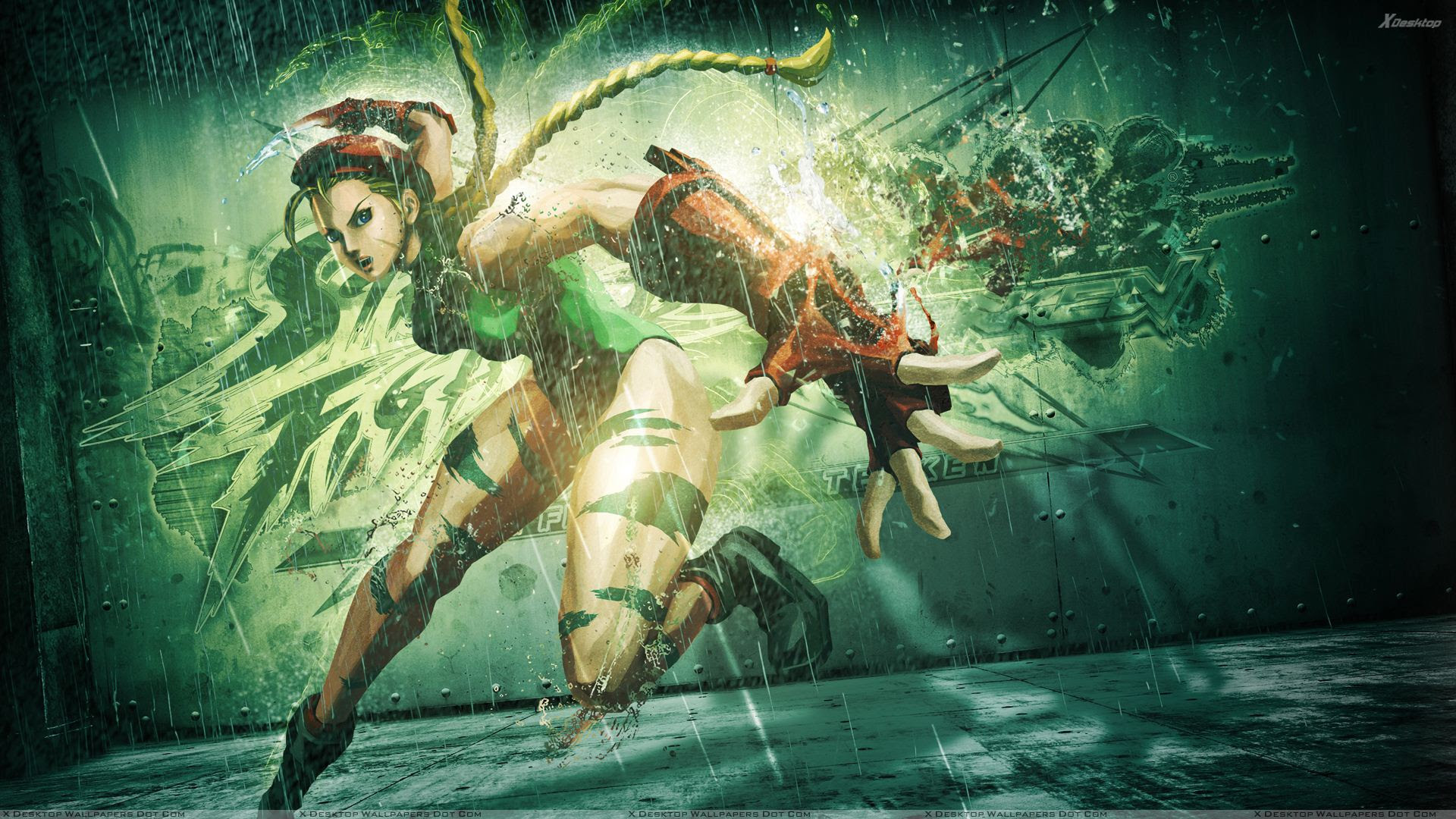 Street Fighter X Tekken Cammy Wallpaper