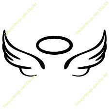 Guardian Angel Silhouette Tattoos At Getdrawingscom Free For