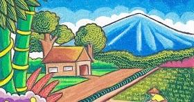 Gambar Pemandangan 2 Gunung