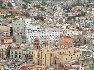 Universidad y Catedral de Guanajuato