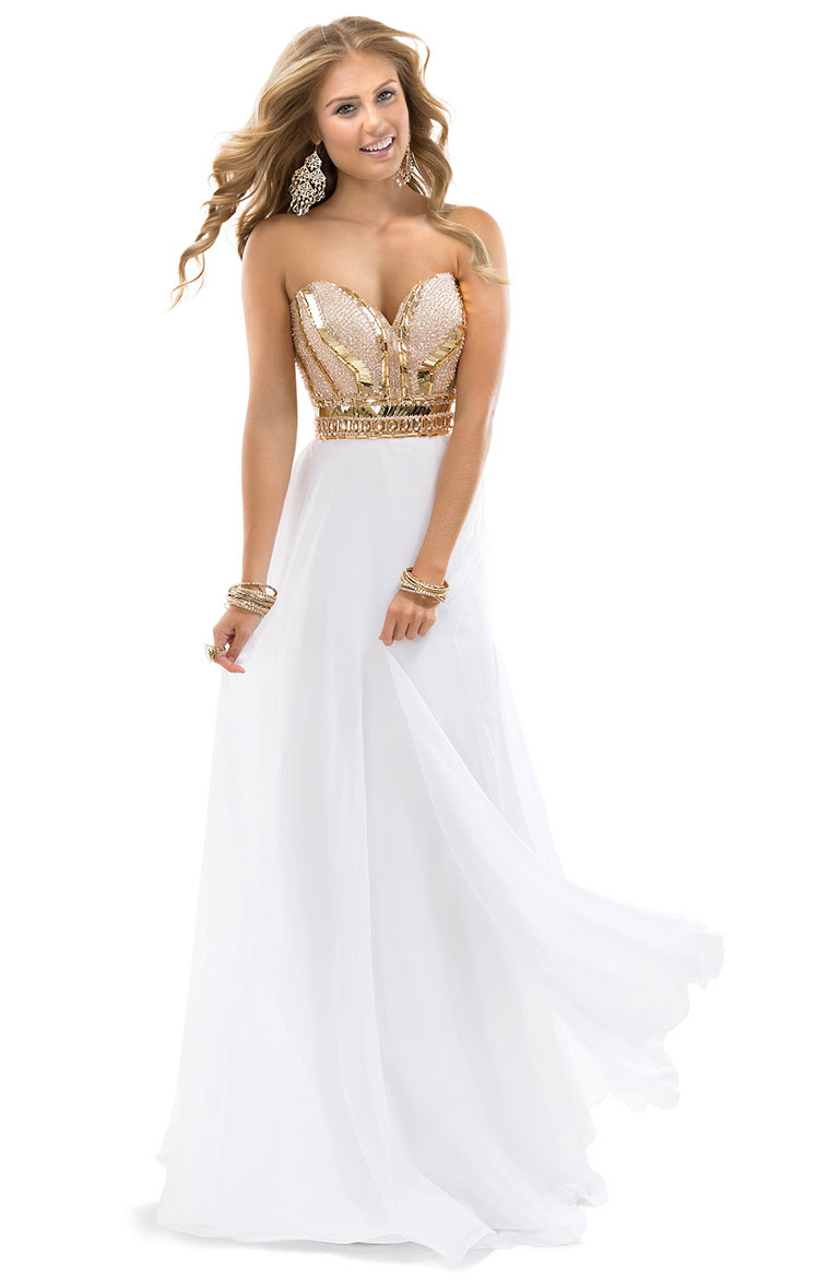 Exquisite A-line Sweetheart Crystal&Pearl Detailing Floor-length Chiffon Evening Dresses_1