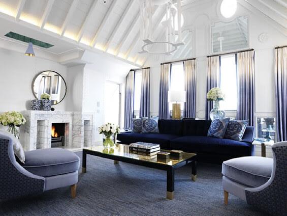The Connaught Mayfair Hotel Dip Dye Curtains