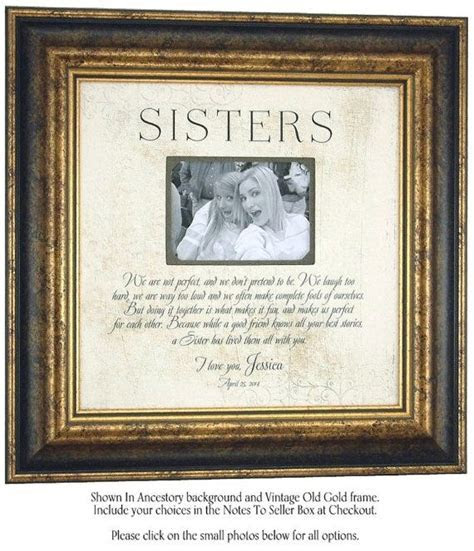 Personalized Picture Frame, Sister Best Friend Maid Of