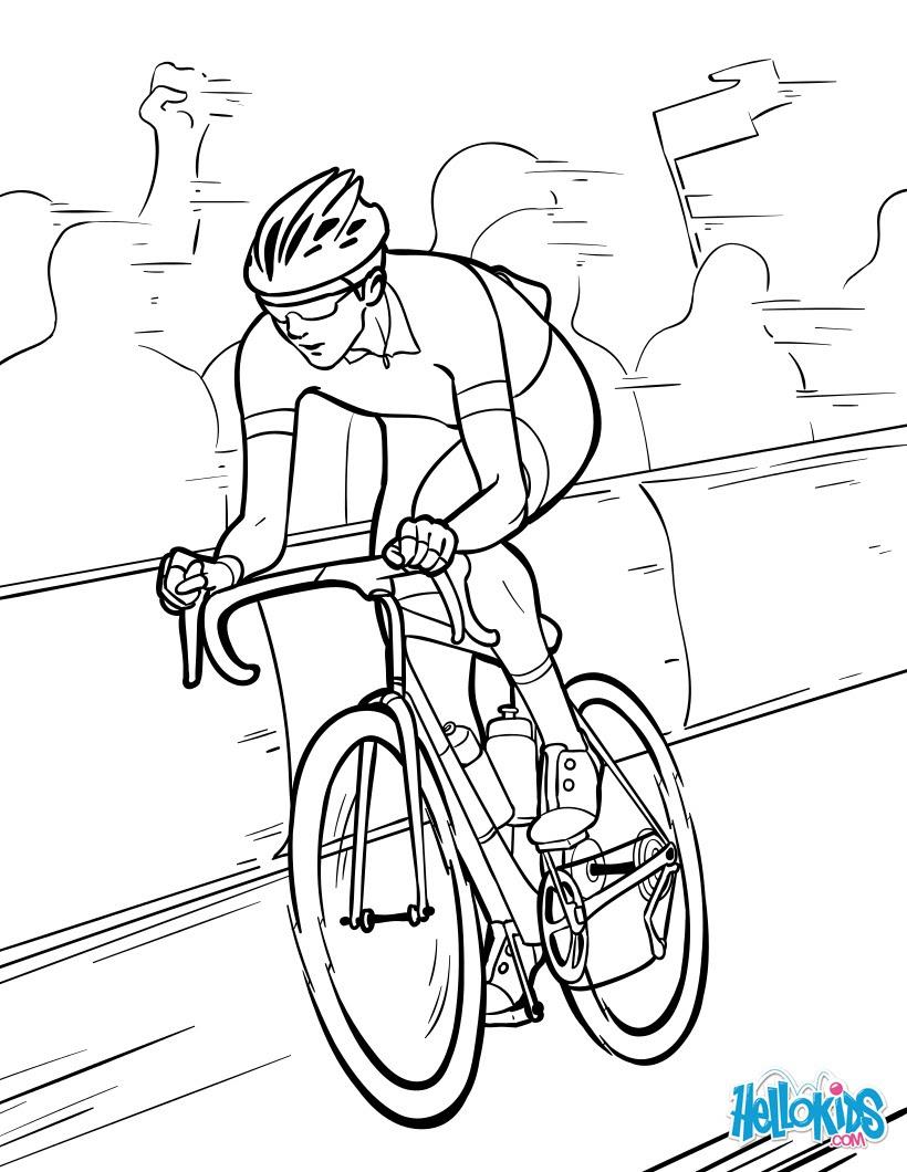 Coloriages Coloriage Tour De France Frhellokidscom