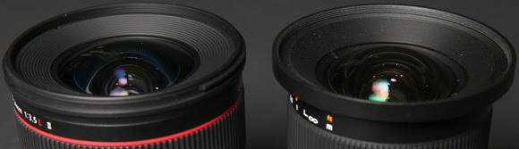 The Rokion has a slightly larger lens bulge which made it more prone to lens flare, and it doesn't come with a lens hood like the Canon