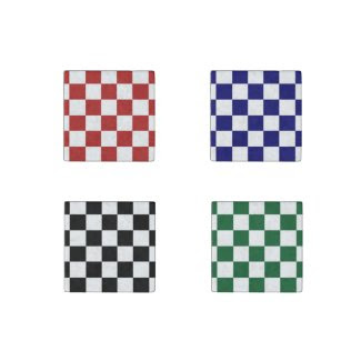 Checkered Pattern Stone Magnet Set Stone Magnet