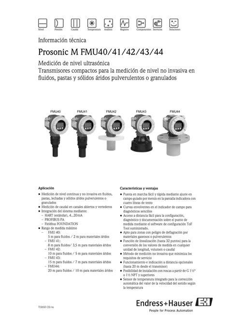 Prosonic M FMU40/41/42/43/44 | Manualzz