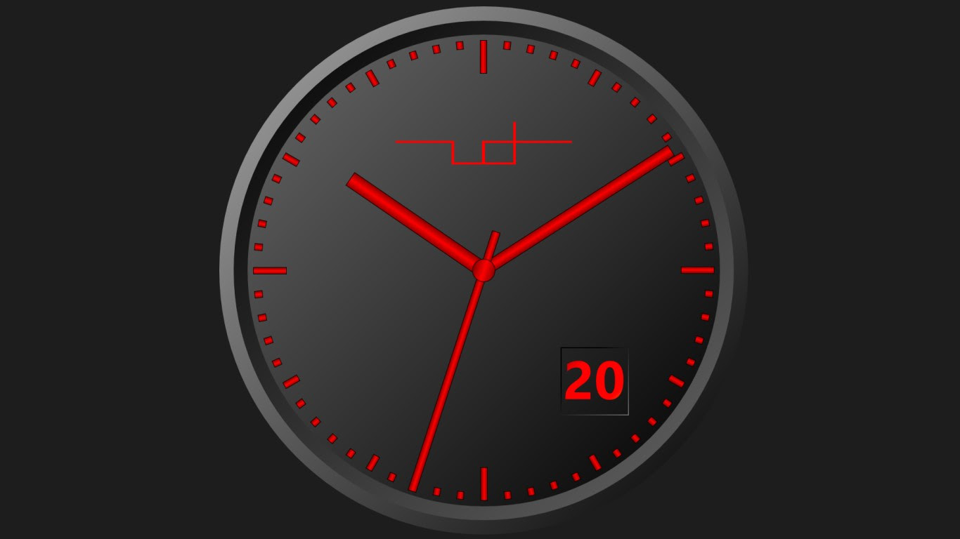 Desktop analog clock. LITERATUREMINI.ML