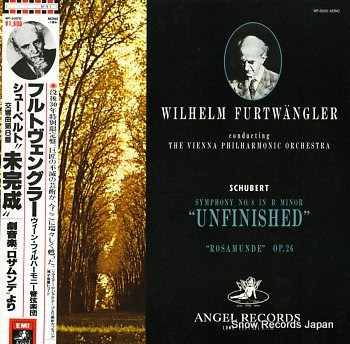 FURTWANGLER, WILHELM schubert; symphony no.8 in b minor unfinished