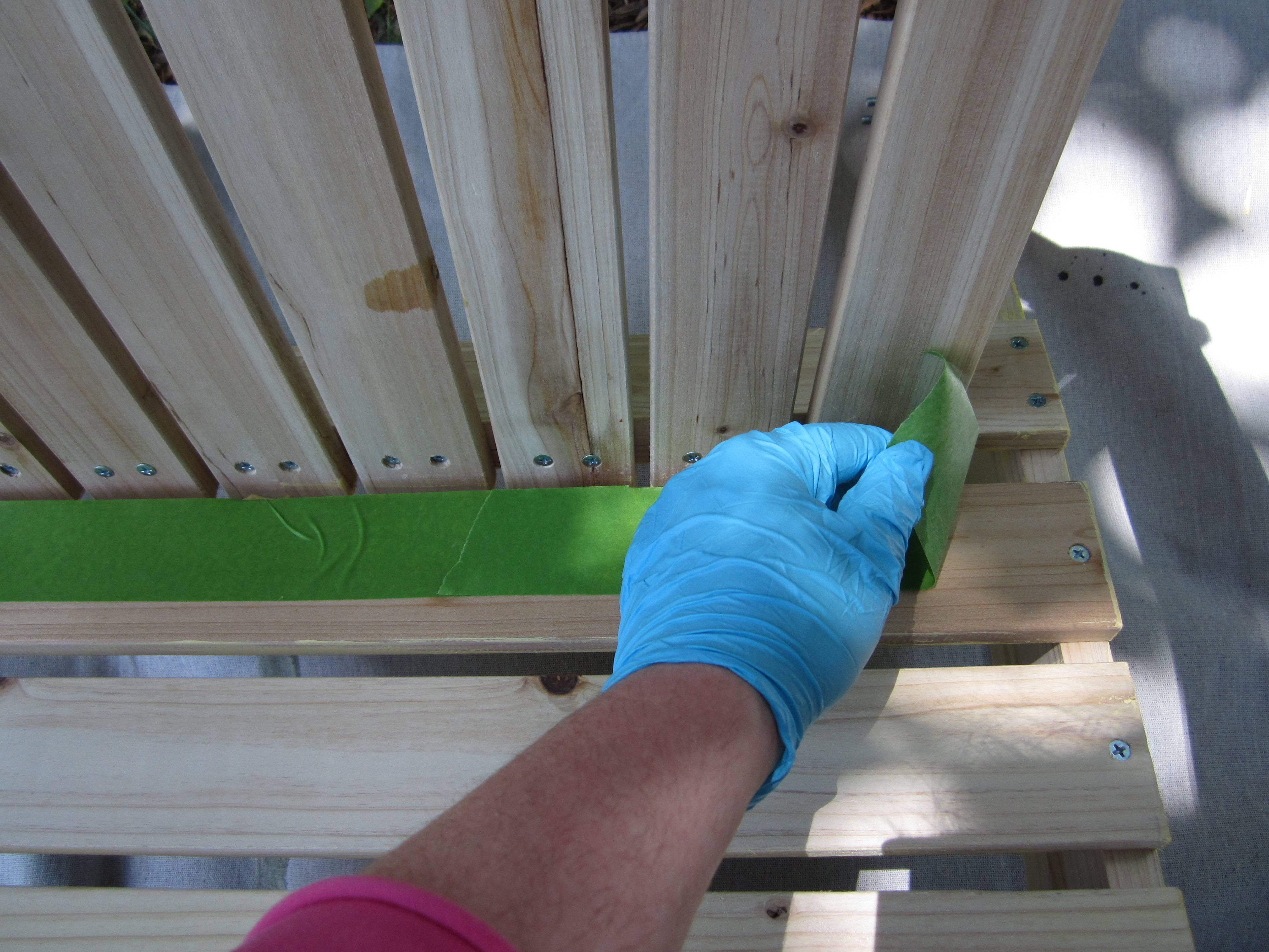 Painting an Adirondack Chair
