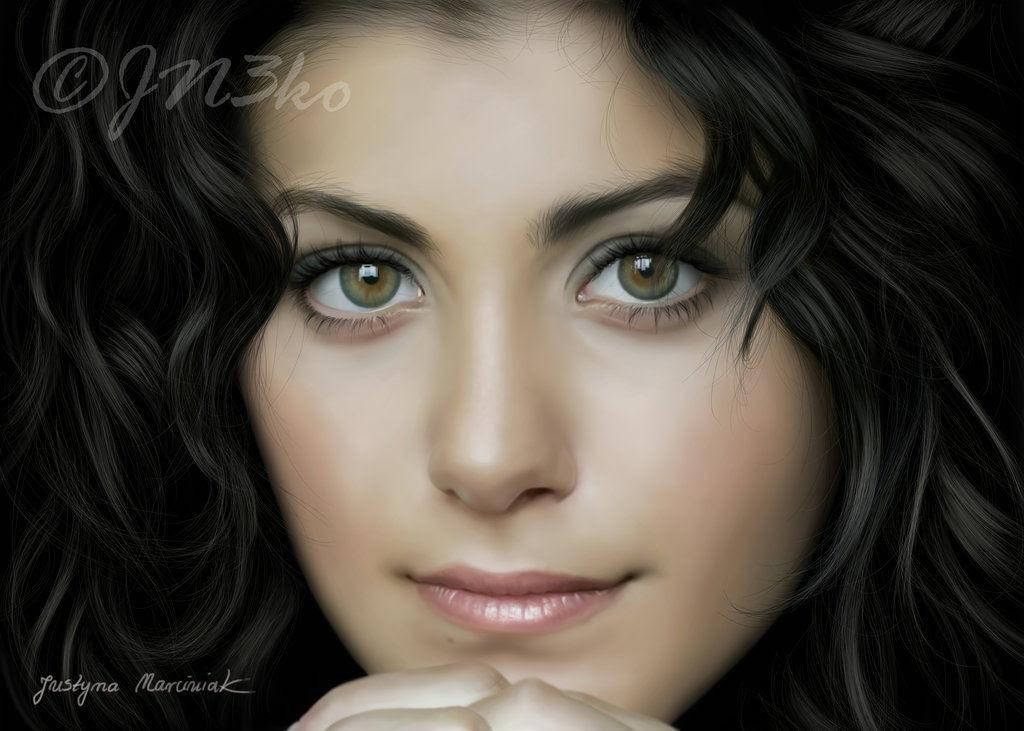 40 obras-primas da pintura digital de celebridades 09