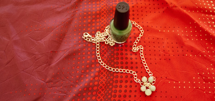 dash dot dotty dashdotdottyblog giveaway scarf OPI necklace teal green