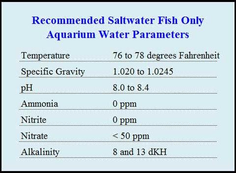Fish Tank Size Chart