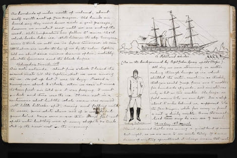 Fragmento del libro, con anotaciones y dibujos. | The British Library