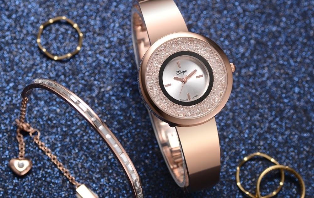 13195dce34e Comprar Xinge Marca Pulseira Relógios Das Mulheres Tendência Conjunto  Relógio De Pulso À Prova D Água Simples Criativo Subiu Ouro Terno Baratas  Online Preço ...