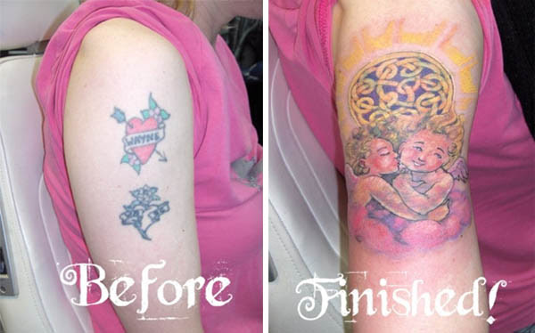 CLEVER COVER UP TATTOOS AFTER THE BREAK UP