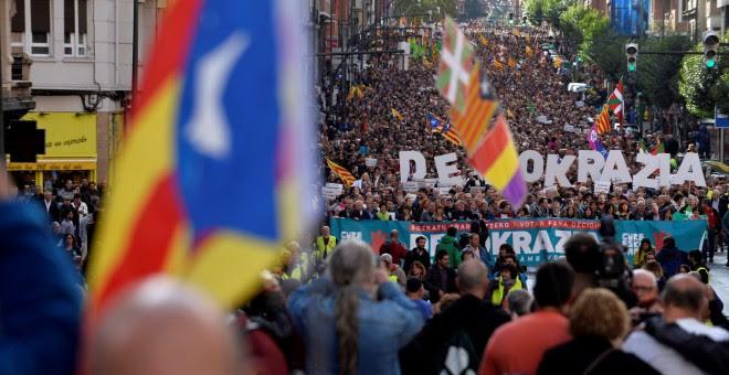 Imagen de la manifestación en Bilbao el pasado 16 de septiembre a favor del derecho a decidir. REUTERS/Vincent West