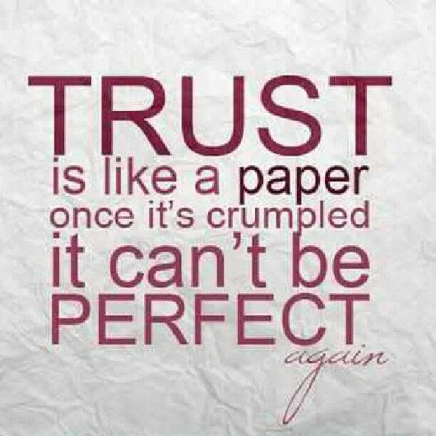 Trust Is Like A Paper Pictures Photos And Images For Facebook