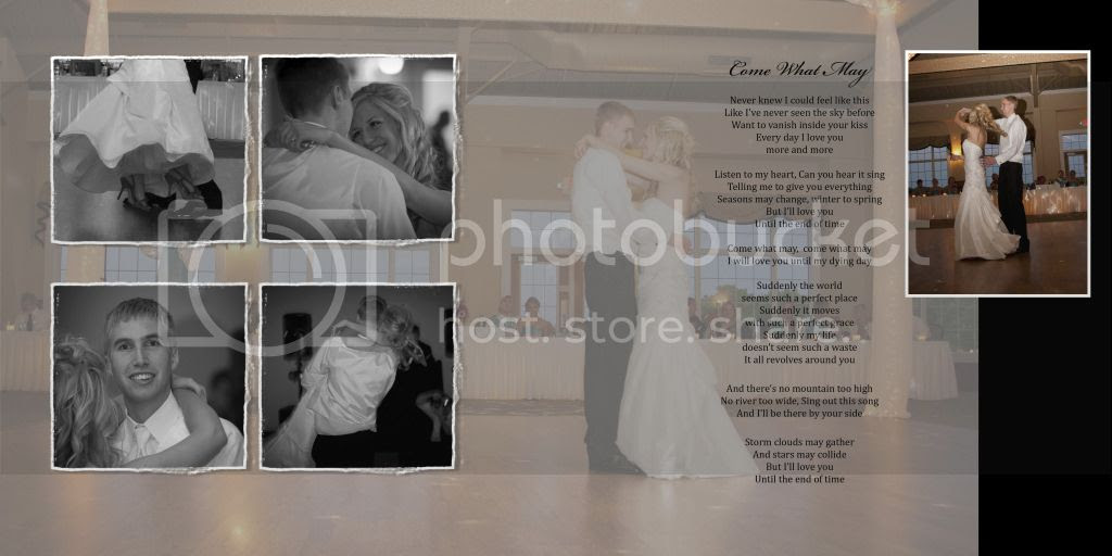 First Dance Wedding Album Page