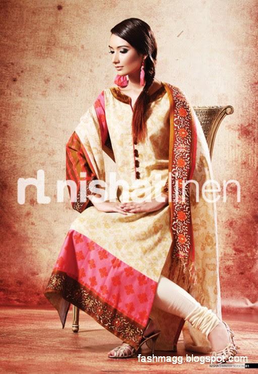 Nishat-Linen-Winter-Dresses-Collection-2013-Nishat-Linen-Fancy-Frocks-Shalwar-Kamiz-0