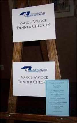 2007 Vance-Aycock Dinner Signs