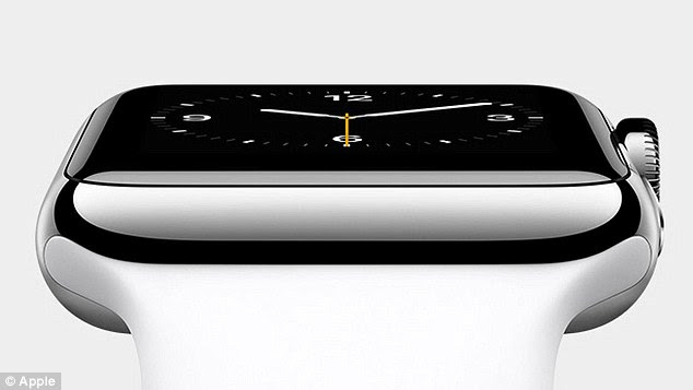 Apple also unveiled the Apple Watch. It has a rectangular bezel, rectangular sapphire crystal screen, curved edges and is made of metal. The watch has a completely new user interface, different from the iPhone, and the 'crown' on the Apple Watch is a dial called the 'digital crown', which can be used to control apps