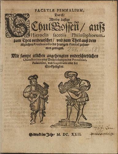 Zincgref, Julius Wilhelm - Facetiae Pennalium 1622 (HAB)