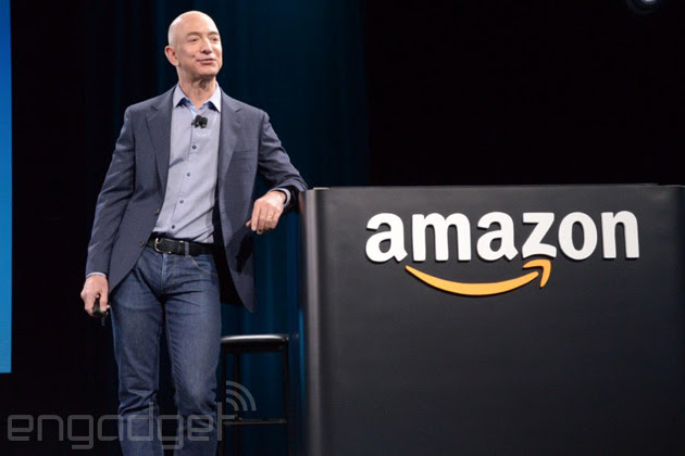 Amazon's Jeff Bezos at the Fire Phone event
