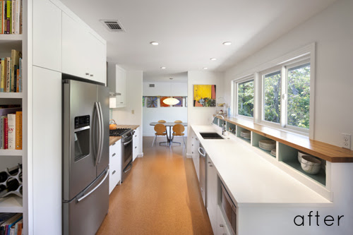 Before And After Modern Galley Kitchen Design Sponge