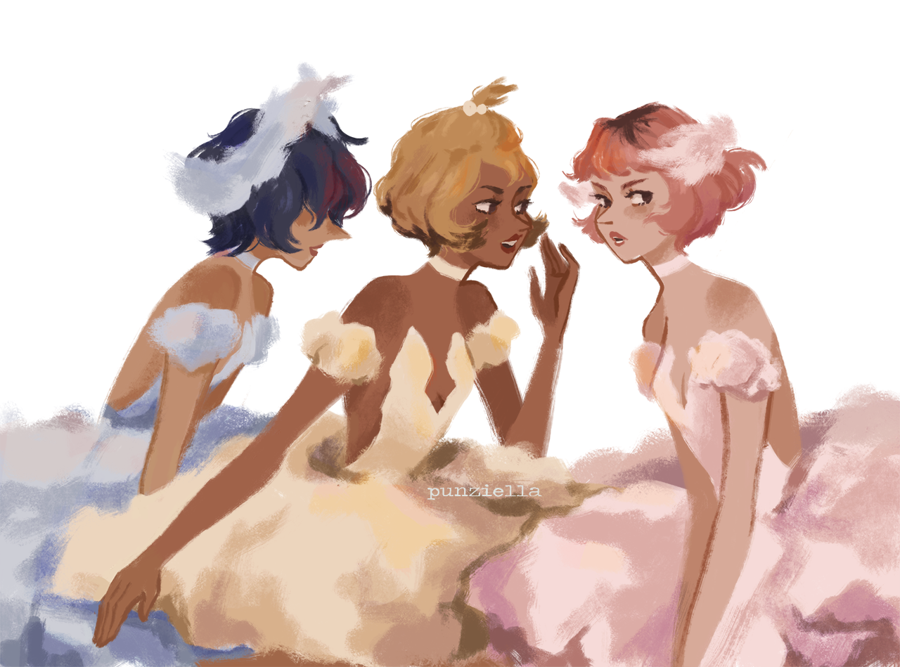 HUMAN BALLERINA PEARLS!! you can't sit with them