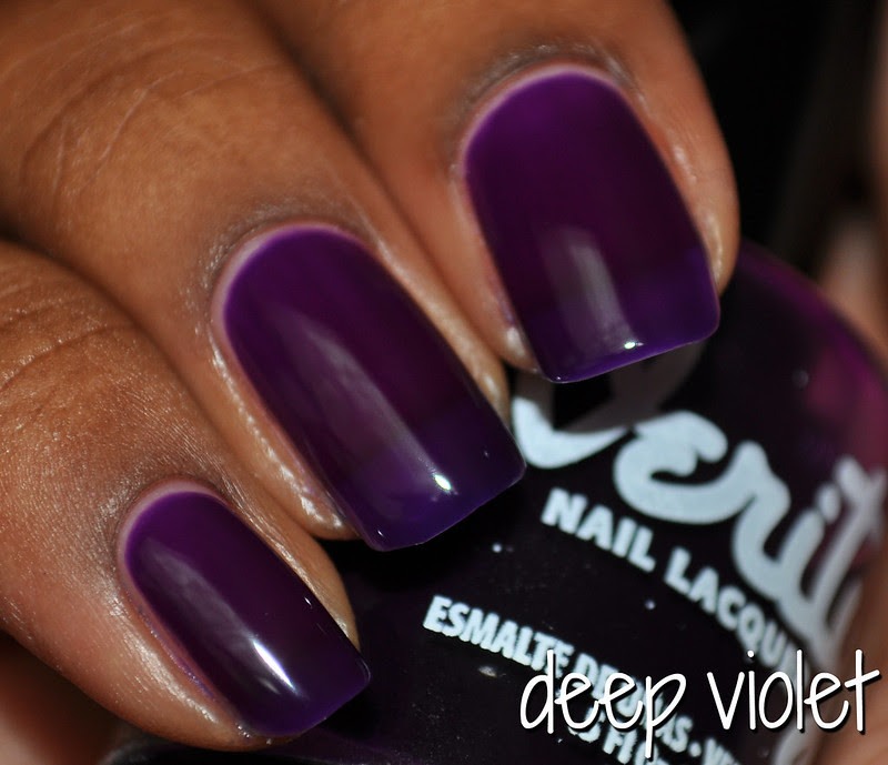 deep violet jelly nail polish