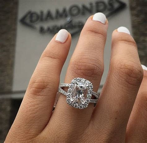 Top 10 Cushion Cut Engagement Rings of 2016   Raymond Lee