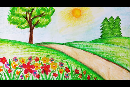 Garden Drawing For Kids Easy