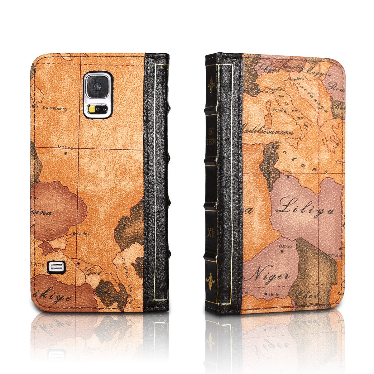 Galaxy S5 Handmade Retro Style Genuine Leather Case