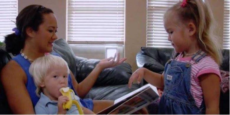 Agora ela é dona de casa e cuida dos seus filhos em Utah