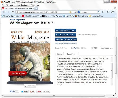 Wilde Magazine, Issue 2, May 2013