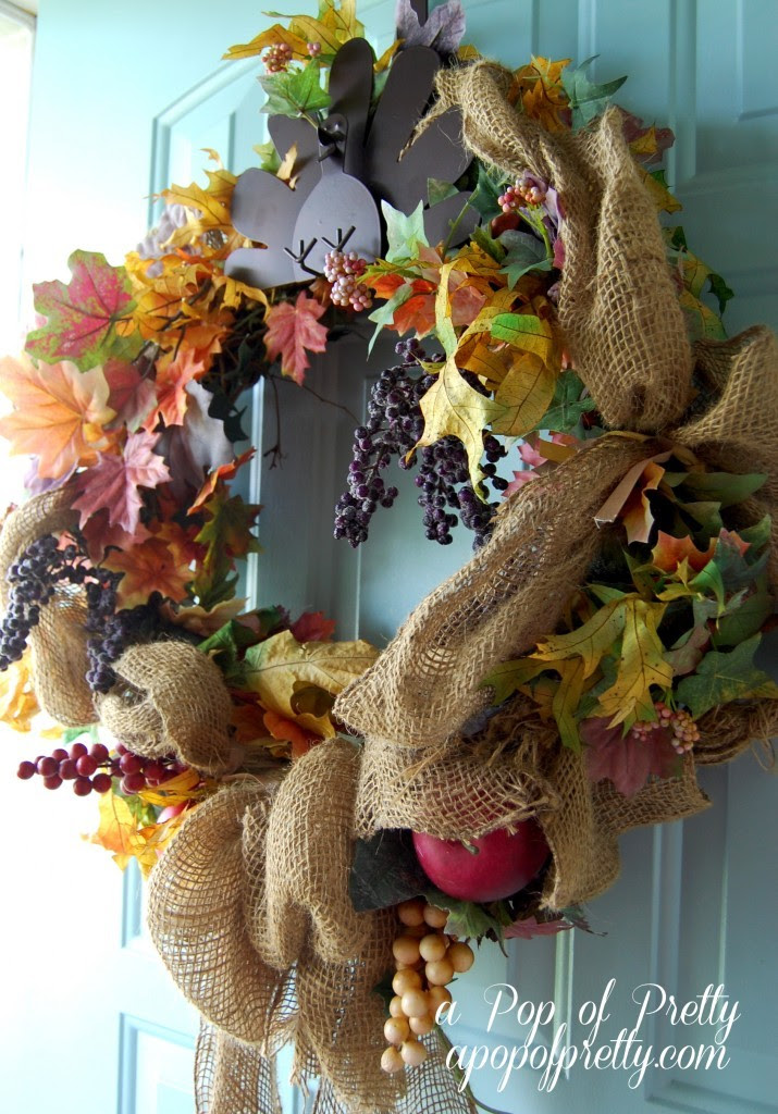 Two Fall Door Decor Ideas | A Pop of Pretty: Canadian Decorating Blog