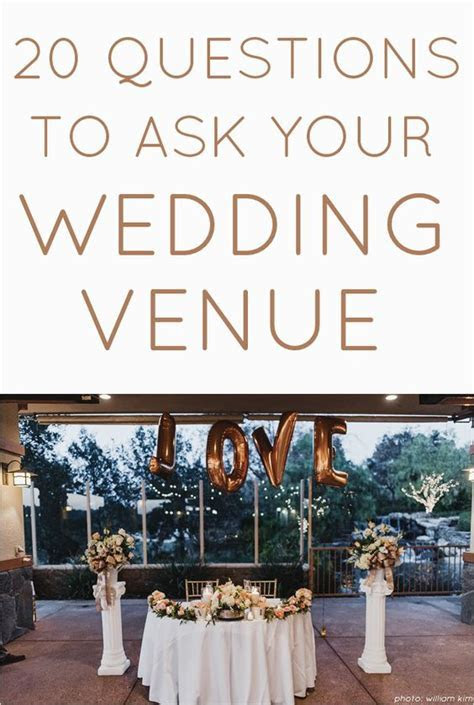 20 Questions you *Need* to Ask Your Wedding Venue   http