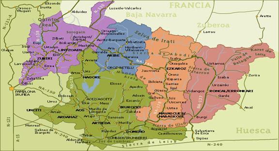 Mapa De Huesca Pirineos.Mapa Pueblos Pirineo Aragones Mapa