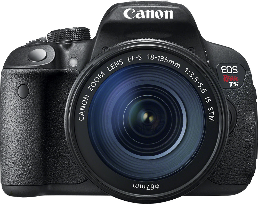 Canon - EOS Rebel T5i DSLR Camera with 18-135mm IS STM Lens - Black - Front Zoom