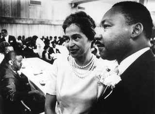 Rosa Parks with the Reverend Dr. Martin Luther King, Jr.
