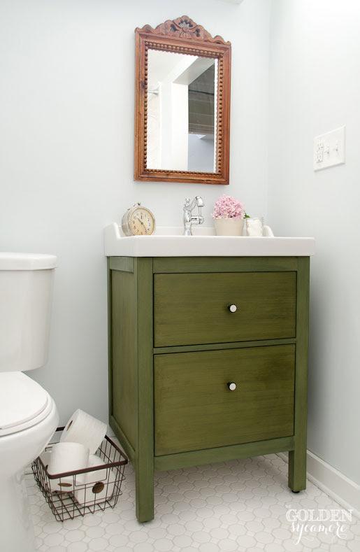 Ikea Bathroom Vanity : Update on the Update - The Golden ...