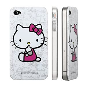 SODIAL For Apple iPhone 4 Hello Kitty Design Polycarbon Hard Case