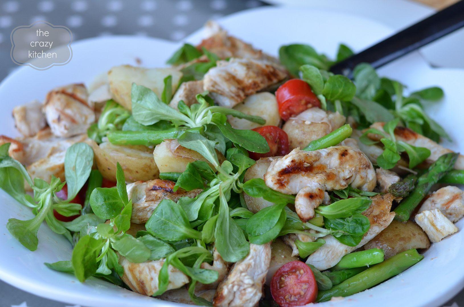 warm chicken and potato salad