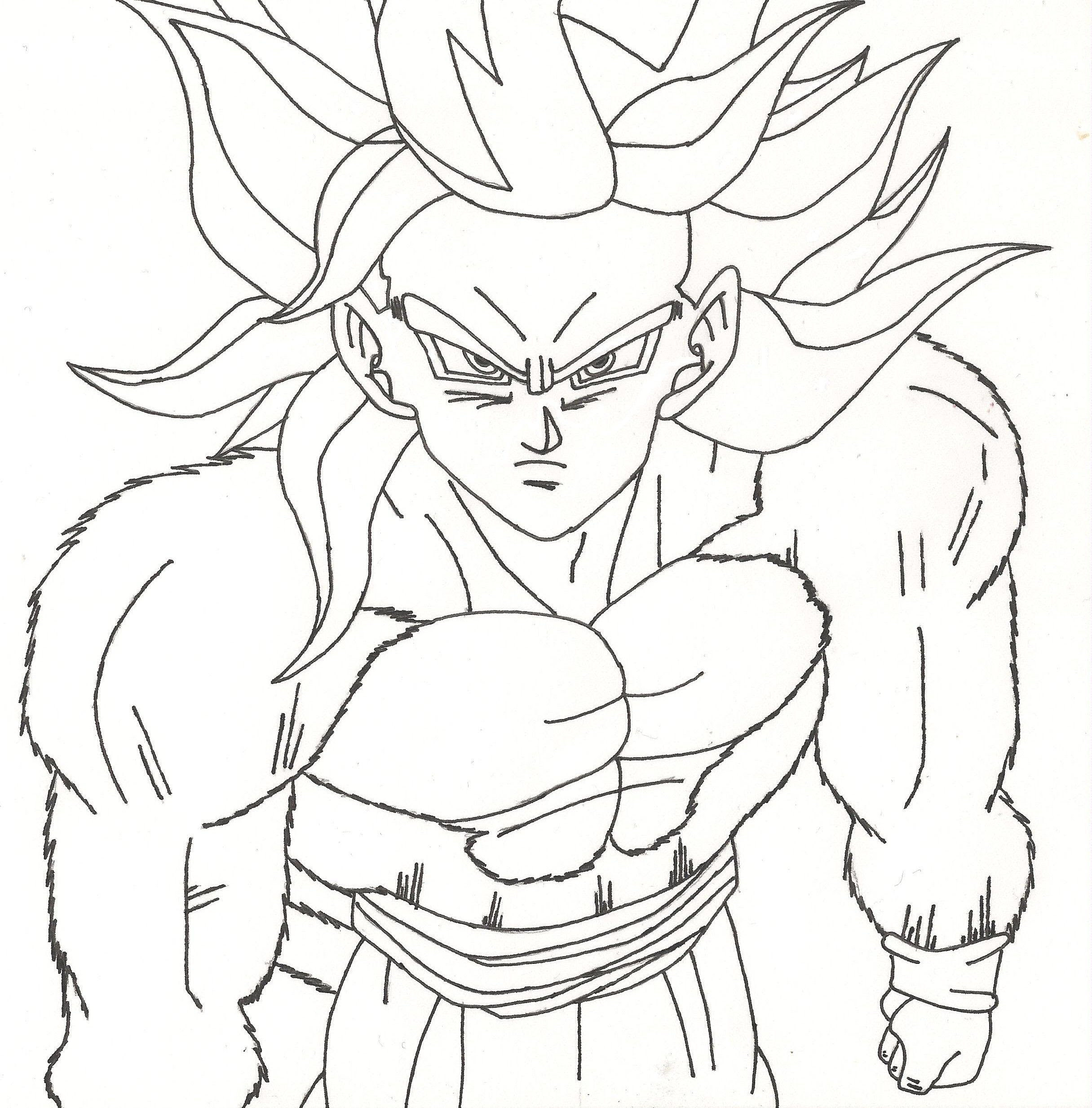 9600 Dragon Ball Z Coloring Pages Gogeta , Free HD Download