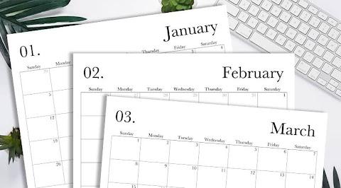 Monthly Calendar 2020 Free Printable