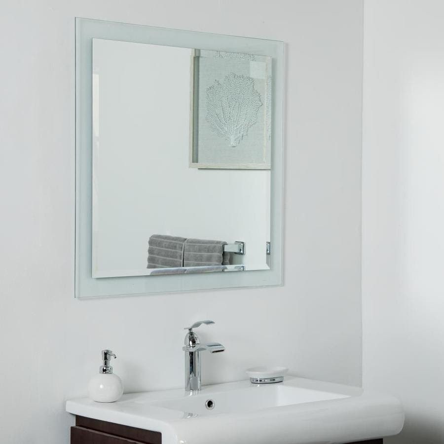 Decor Wonderland 30 In Silver Square Frameless Bathroom Mirror In The Bathroom Mirrors Department At Lowes Com